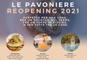 Apertura Estate 2021 Pavoniere Firenze