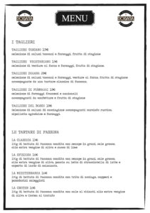 Menù Dogana Firenze