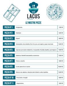 Menù Pizze Lacus